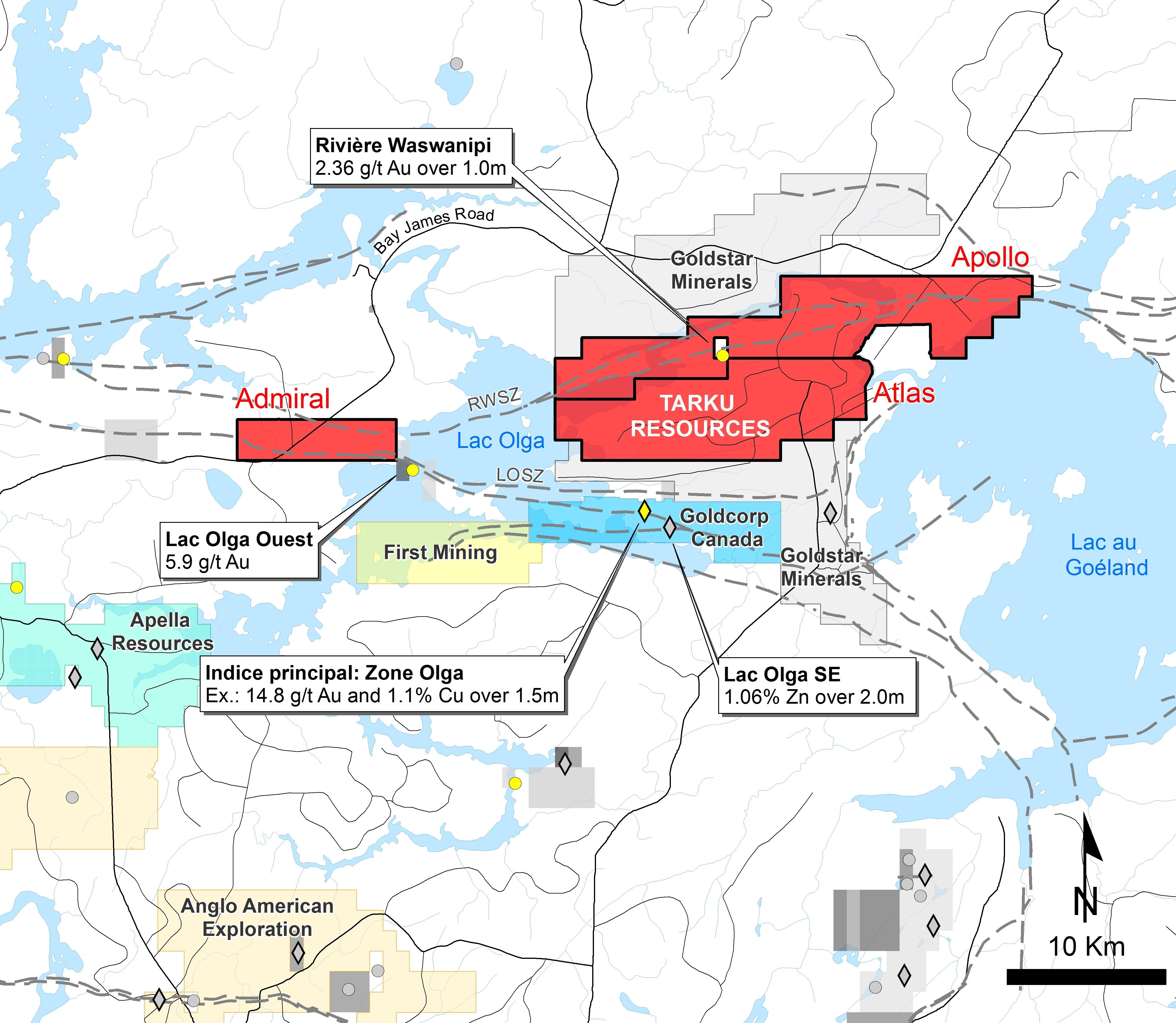 Mine Site Map Example: Tarku Resources